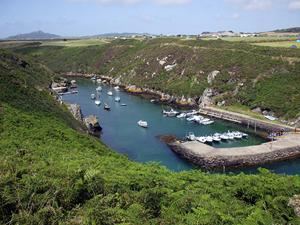 Porthclais Harbour, near St David's, Pembrokeshire coastal path.