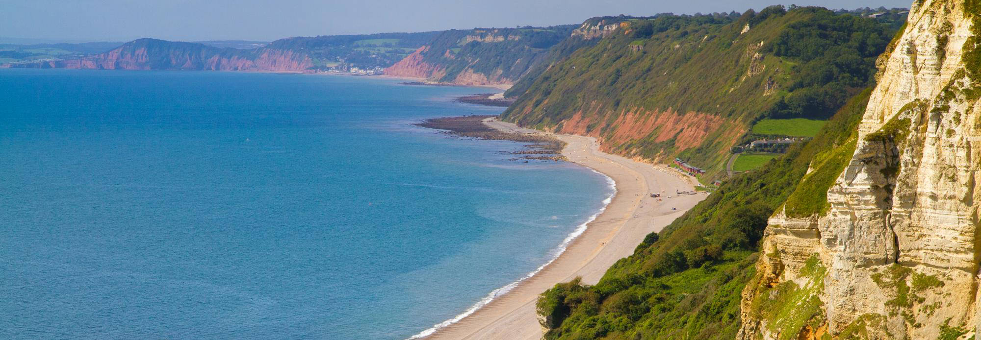 Branscombe beach and Devon
