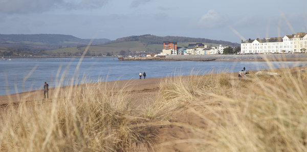 Exmouth Devon on the SW Coast Path National Trail and Long Distance Path