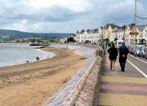 Exmouth Seafront part of the SW Coast Path National Walking Trail UK