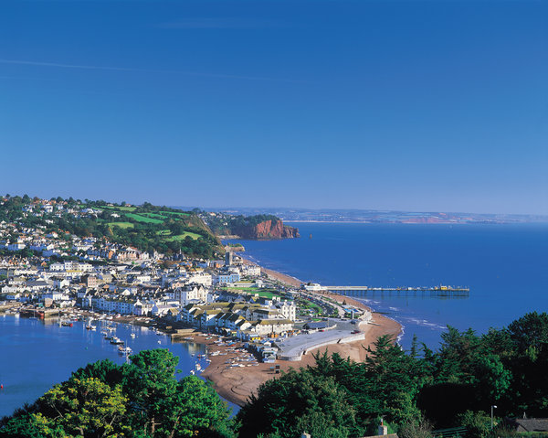Teignmouth from The Ness on the South West Coast Path Footpath UK