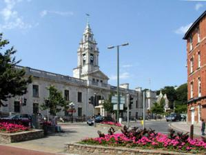 Town Hall Torquay passed on the SW Coast Path Walking Holiday UK