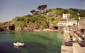 Polperro Harbour South Cornwall Cornish Coastal Path Trekking Route UK