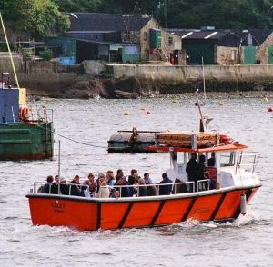 Fowey Ferry for walkers taking the Hall Walk after finishing The Saints Way