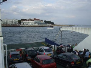 Sandbanks Ferry to Poole end of the South West Coast Path Footpath UK
