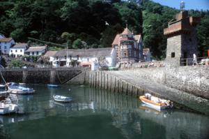 Lynmouth Town Harbour North Devon Exmoor National Park UK