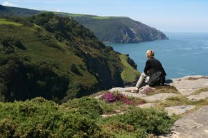 Looking out on the South West Coast Path