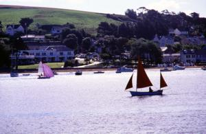 View of Instow village on the South West Coast Path Route UK