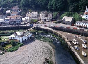 Lynmouth Harbour on the South Western Coast Path UK Hiking Trail