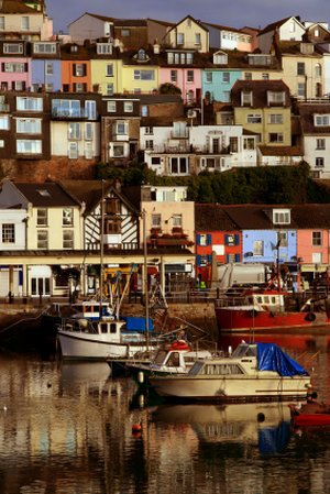 Brixham Harbour, Devon Short Breaks Walking, Luggage Transfers South West Coast Path