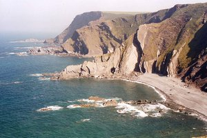 Wild Cliffs, South West Coast Path near Hartland Quay on the UK National Trail