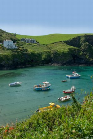 Port Isaac overnight stop on the Long Distance South West Coast Path Cornwall England
