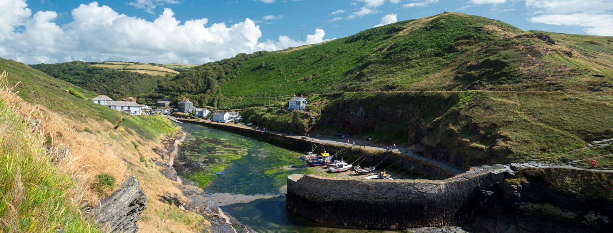 Boscastle Harbour, part of the Smuggler's Way, Cornwall