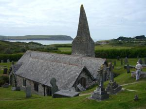 St Endocs Church near Padstow on the South West Coast Path Holiday