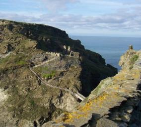 Tintagel Castle on the Cornish Coast Path Walking Holiday from Westward Ho!