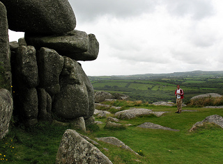 Helmans Tor highlight on The Saints Way Footpath Cornwall UK