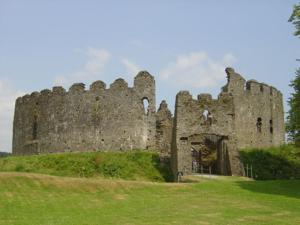 Restormel Castle near Lostwithiel just off The Saints Way Walk in Cornwall
