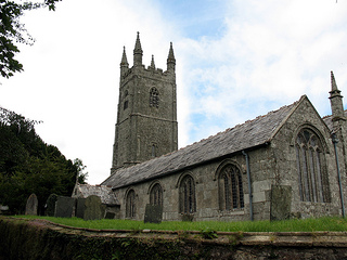 Withiel Church inland on the Saints Way walk Mid Cornwall UK