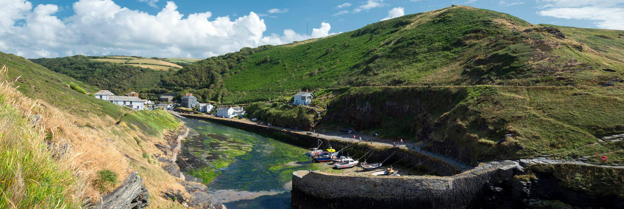 Boscastle Harbour in Cornwall
