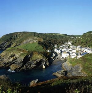 Portloe Southwest Coastal Path Cornwall Falmouth to Plymouth Section UK