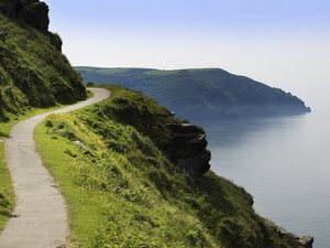 South West Coast Path UK Long Distance Footpath and National Trail Exmoor