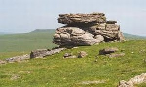 Hangershell Rocks Two Moors Way Walking Route Devon South West England
