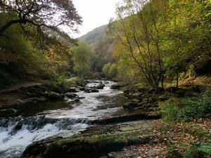 Watersmeet Lynmouth Exmoor National Park on the Tarka Trail Footpath