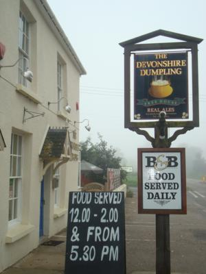 Devonshire Dumpling Inn Morchard Road on the Two Moors Way route