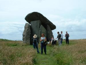 Walking Trethevy Quoit Cornwall The Copper Trail Footpath Bodmin Moor